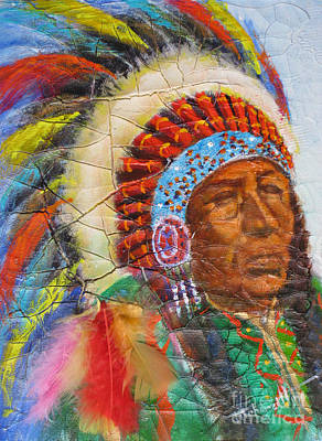 Fineartamerica.com Painting - The Chief by Mohamed Hirji