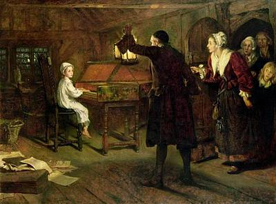 Discovered By His Parents Painting - The Child Handel Discovered By His Parents 1893 by MotionAge Designs