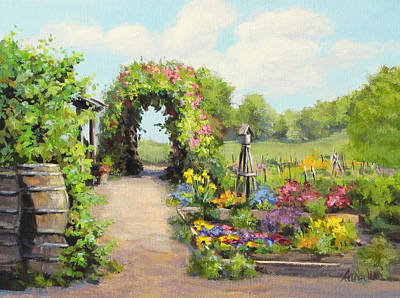 Painting - The Children's Garden by Karen Ilari