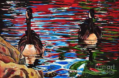 The Chincgacousy Lovers 2 Art Print by Henny Dagenais