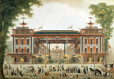 The Chinese Baths In Paris, Established By Lenoir Wc On Paper Art Print by French School