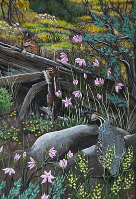 Painting - The Chipmunk Meeting by Jennifer Lake