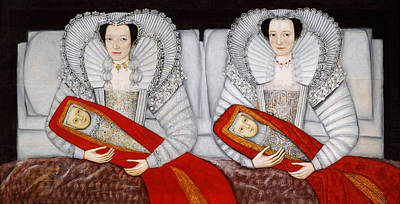 Beautiful Scenery Painting - The Cholmondeley Ladies by Celestial Images