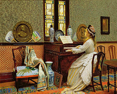 Grb Painting - The Chorale by John Atkinson Grimshaw