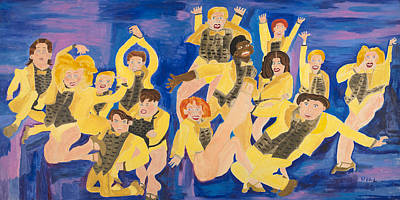 Painting - The Chorus Line by Don Larison