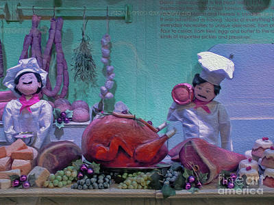 Photograph - The Christmas Butcher by Karen Lewis