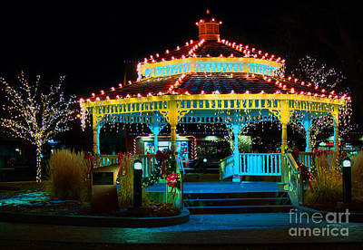 Photograph - The Christmas Gazebo by Steven Parker
