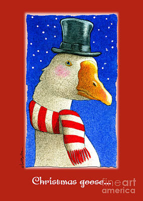 Goose Painting - the Christmas goose by Will Bullas
