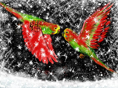 Painting - The Christmas Keets by Jean Pacheco Ravinski