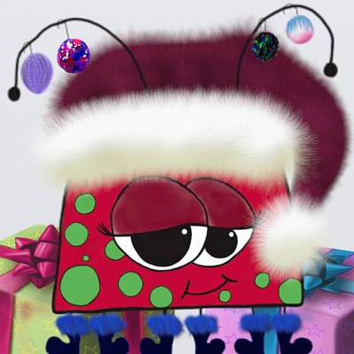 Painting - The Christmas Love Bug by Michelle Brenmark