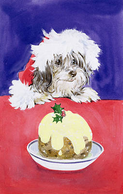 The Christmas Pudding Art Print by Diane Matthes