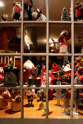 Photograph - The Christmas Shop Window by Butch Lombardi