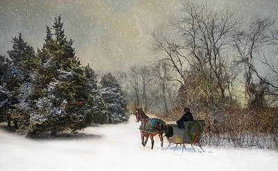 The Christmas Sleigh Art Print