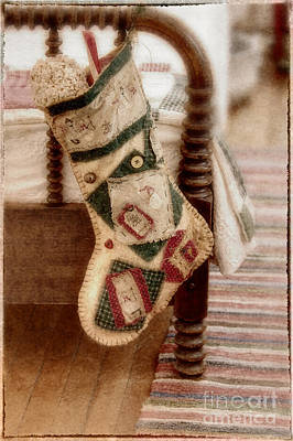 Bed Quilts Photograph - The Christmas Stocking by Margie Hurwich