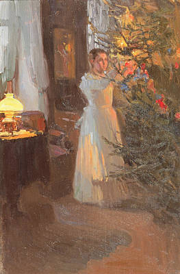 Net Painting - The Christmas Tree by Alexei Mikhailovich Korin