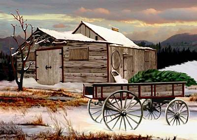 Lonesome Painting - The Christmas Tree by Ron and Ronda Chambers