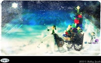 Digital Art - The Christmas Waltz by Holley Jacobs