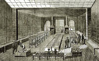 The Christofle Electroplating Factory Print by Sheila Terry