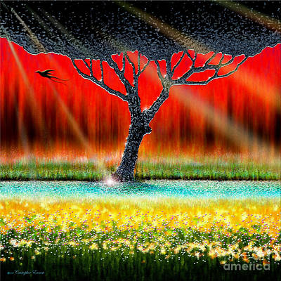 Digital Art - The Chrome Tree by Cristophers Dream Artistry