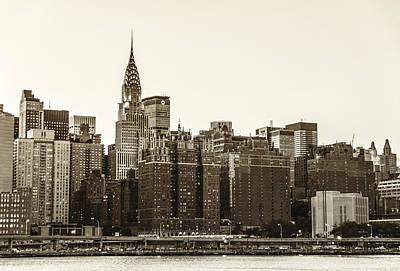 New York City Skyline Photograph - The Chrysler Building And New York City Skyline by Vivienne Gucwa