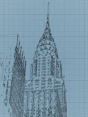 Chrysler Building Mixed Media - The Chrysler Building by Dan Sproul