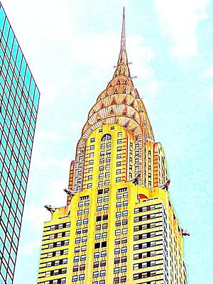 Photograph - The Chrysler Building by Ed Weidman