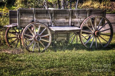 Conestoga Photograph - The Chuck Wagon by Bob Hislop