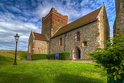 The Church At Dover Castle Art Print by Tim Stanley