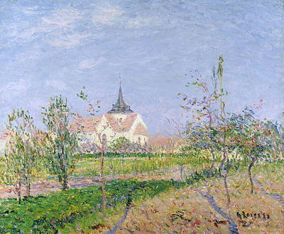 The Church At Vaudreuil Art Print by Gustave Loiseau