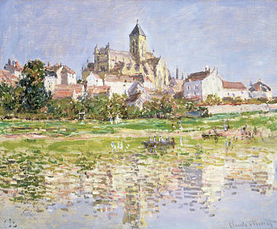 The Church At Vetheuil, 1880 Art Print