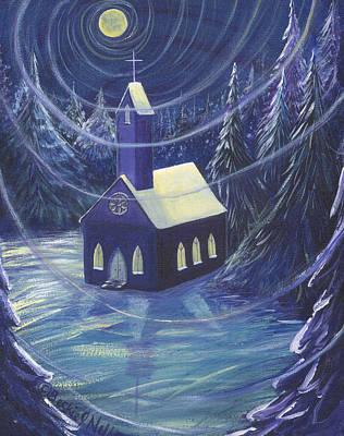 The Church Art Print by Beckie J Neff