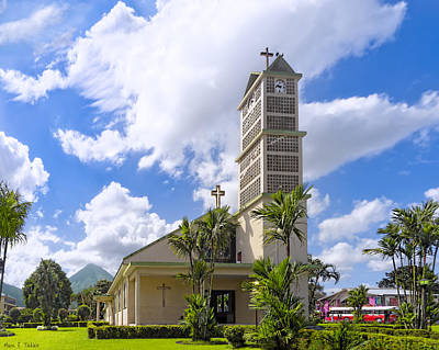 Photograph - The Church By The Volcano - La Fortuna De San Carlos by Mark E Tisdale