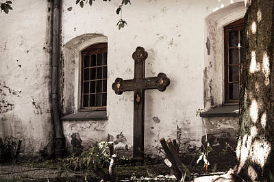 Photograph - The Church Courtyard by Bill Howard