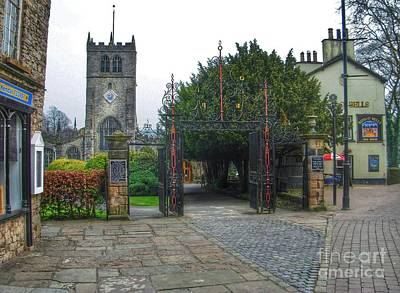 Photograph - The Church Gate At Kirklands In Kendal by Joan-Violet Stretch