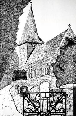Drawing - The Church Gate by Dorothy Berry-Lound