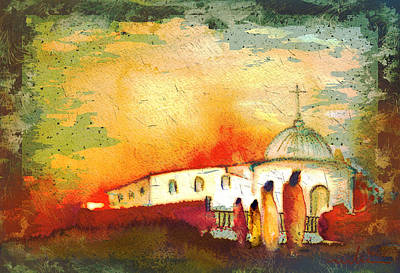 Painting - The Church In The Desert by Miki De Goodaboom