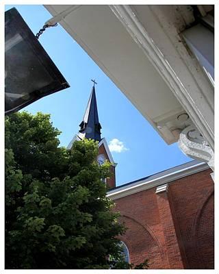 Photograph - The Church Next Door by Frank Wickham