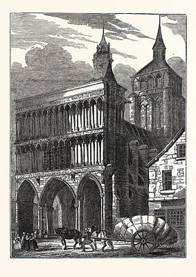 The Church Of Notre Dame At Dijon Art Print by French School