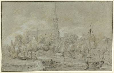 Flemish Drawing - The Church Of Saints Peter And Paul by Anonymous, Flemish, 17th century