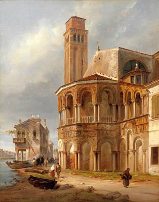 Luigi Querena Painting - The Church Of Santa Maria E San Donato In Murano by Luigi Querena