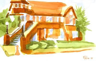 The Church On Shepherd Street Vi Art Print by Kip DeVore