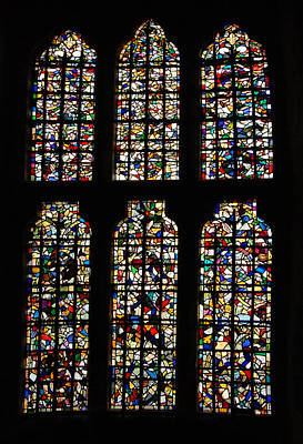 Church Window Digital Art - The Church's Windows by Gina Dsgn