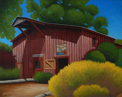 Painting - The Cider Barn by Gayle Faucette Wisbon