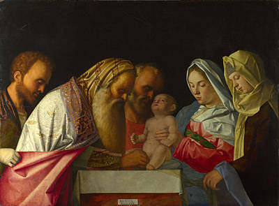 Circumcision Painting - The Circumcision by Workshop of Giovanni Bellini