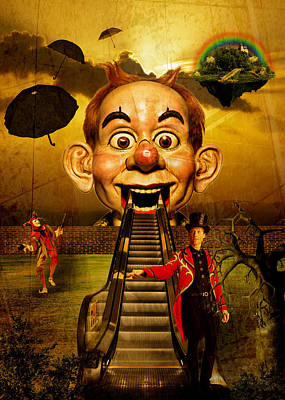 Jester Digital Art - The Circus  by Andrew  Kemp