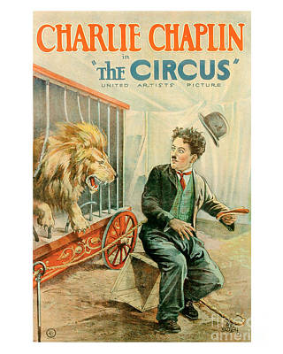 Cage Painting - The Circus Charlie Chaplin Movie Poster by MMG Archive Prints