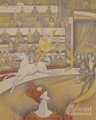 Dot Painting - The Circus by Georges Pierre Seurat