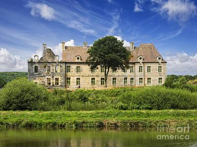 The Cistercian Abbey De Bon Repos Cotes D'armor Brittany France  Art Print by Jon Boyes
