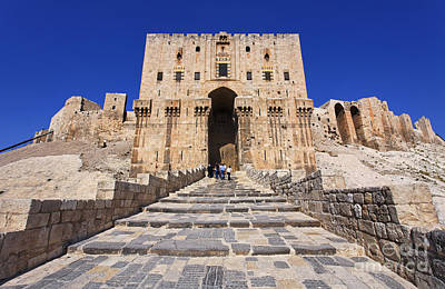 Gatehouse Photograph - The Citadel In Aleppo Syria by Robert Preston