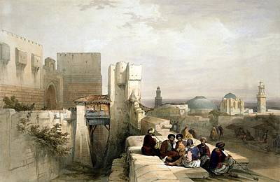Photograph - The Citadel Of Jerusalem 1841 by Munir Alawi